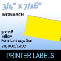 """Monarch """"Yellow"""" Tag Labels (For 1-Line 1131 Gun)"""