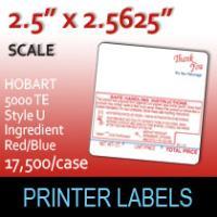 HOBART 5000 TE Style U Ingredient Red/Blue