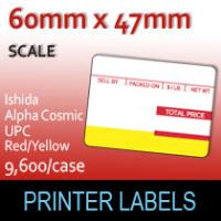 Ishida Alpha Cosmic UPC 47mm Red/Yellow