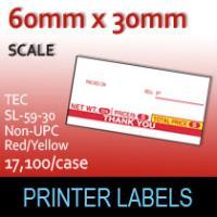 TEC SL-59-30 Non-UPC Red / Yellow