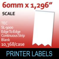 TEC SL-9000 Edge to Edge Continuous Strip 60mm Blank