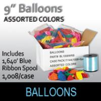Balloons (9 inch-Assorted Colors/1008 Per Case)