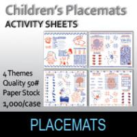 Children's Place Mats/Activity Sheets (1000 Per Box)