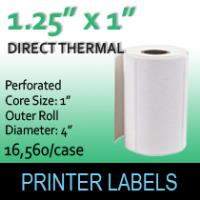 "Direct Thermal Labels 1.25"" x 1"" Perf"