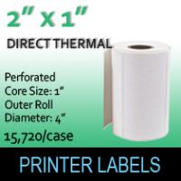 "Direct Thermal Labels 2"" x 1"" Perf"