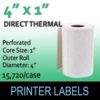 "Direct Thermal Labels 4"" x 1"" Perf"