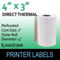 "Direct Thermal Labels 4"" x 3"" Perf"