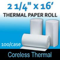 "Coreless Thermal Roll – 2 ¼"" thermal x 16'"
