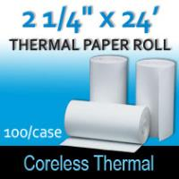 "Coreless Thermal Roll -2 ¼"" thermal x 24'"