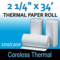 "Coreless Thermal Roll – 2 ¼"" thermal x 34'"