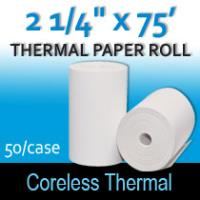 "Coreless Thermal Roll – 2 ¼"" thermal x 75'"