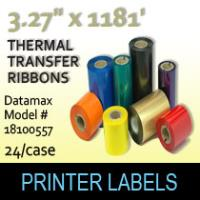 "Datamax 3.27"" x 1181' Thermal Transfer Wax Ribbons"