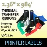 "Intermec 2.36"" x 984' Thermal Transfer Wax Ribbons"
