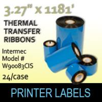"Intermec 3.27"" x 1181' Thermal Transfer Wax Ribbons"