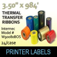 "Intermec 3.50"" x 984' Thermal Transfer Wax Ribbons"