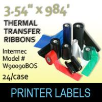 "Intermec 3.54"" x 984' Thermal Transfer Wax Ribbons"