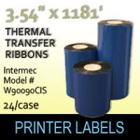 "Intermec 3.54"" x 1181' Thermal Transfer Wax Ribbons"