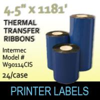 "Intermec 4.5"" x 1181' Thermal Transfer Wax Ribbons"