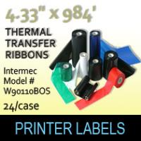 "Intermec 4.33"" x 984' Thermal Transfer Wax Ribbons"
