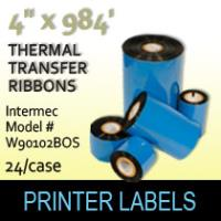 "Intermec 4.00"" x 984' Thermal Transfer Wax Ribbons"