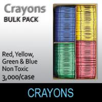 Crayons-High Quality  Bulk Pack  (3000 Per Box)