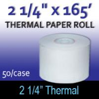 "Thermal Paper Roll - 2 1/4"" x 165'"