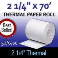 "Thermal Paper Roll - 2 1/4"" x 70'"