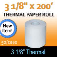 "Thermal Paper Roll - 3 1/8"" x 200'"